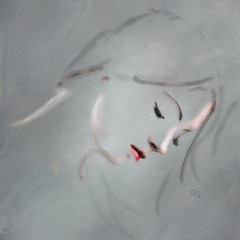 Sadness (Pat McDonald) Tags: artrage digitalart guapa guapísima retrato beauty demure sensitivity feeling prayer clard pixabay