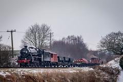 45212, Black 5 freight (ChromaphotoUK) Tags: elr eastlancsrailway steam train engine loco locomotive heritage railway springgala nikon d610 45212 blackfive black5 freight demonstration