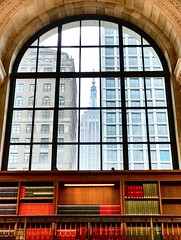 View from NYC Public Library (Sage Girl Photography) Tags: sagegirl books architecture history inside empirestatebuilding esb iphone7plus library nyc window