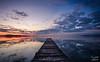 lake (ilario giglietti) Tags: sky lake italy umbria fujifilm trasimeno landscape water pontoon pier long exposition sunset clouds