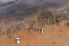 Indian Sands - Kites Above Bay of Bengal (Wind Watcher) Tags: yellow kap windwatcher kite bkt rokkaku vizag visakhapatnam india bay bengal