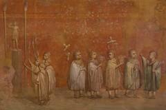 Roman fresco (ramosblancor) Tags: humanos humans arte art pintura painting fresco niños kids procesión procession religión religion roma rome vaticanmuseums museosvaticanos historia history italia italy rojo red color