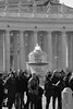 IMG_0494_ (Stefano Palma) Tags: people sanpietro stpeter vaticano piazzasanpietro colonnato fontana fountain monochrome bn biancoenero blackandwhite