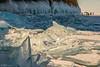 Ice hummocks by the Three Brothers rock (Evgeny Gorodetskiy) Tags: cape snow siberia landscape olkhon travel nature khoboy island hummocks winter lake russia baikal ice irkutskayaoblast ru