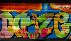 A Dayz-E Chain (Steve Taylor (Photography)) Tags: dayze 1980 part3 darki darki55ed cia childrenofthegrave again dondi 7 crack spots graffiti mural tag streetart colourful vivid uk gb england greatbritain unitedkingdom margate shutter