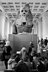 Bust of Ramses II in British Museum (kimblenaattori) Tags: british museum ramses ii statue bust egypt ancient london uk united kingdom black white blackandwhite bw canon kit lens