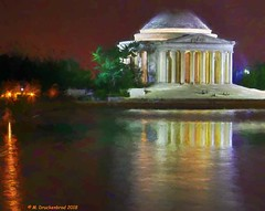 The Jefferson Memorial at night, Washington D.C. (PhotosToArtByMike) Tags: jeffersonmemorial tidalbasin washingtondc dc night lowlight thomasjefferson nation'scapital districtofcolumbia thomasjeffersonstatue