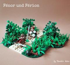 Fénor and Férion (Dunkler Vater) Tags: lego medieval fantasy moc roguebricks nine kingdoms biology