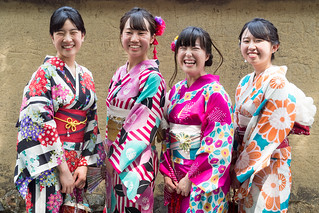 The Lovely smiling young Ladies ...Gion Kyoto