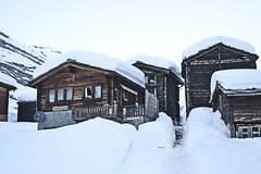 hay sheds (t.horak) Tags: country building hut mountain village wood traditional alps switzerland snow white zermatt architecture