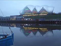 Reflections (JuliaC2006) Tags: gateshead river tyne boat sage