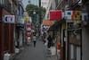 alley of mercury lamp (kasa51) Tags: alley narrowstreet sign people tokyo japan streetlamp 水銀灯?