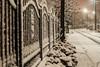 Just a snowy evening... (Bela Bodo) Tags: fence street snowing evening moody calmness appeasement