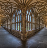 Wells Cathedral Cloister (Wizard CG) Tags: wells cathedral cloister gothic windows corridor light vault somerset wideangle southwestengland england united kingdom great britain olympus epl7 trekker m43 hdr architecture worldtrekker ngc