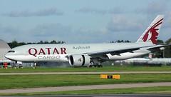 A7-BFJ (AnDyMHoLdEn) Tags: qatar qatarcargo 777 boeing777 oneworld egcc airport manchester manchesterairport 23r