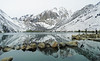 Reflections on Convict Lake, Sierra Nevada 5-2017 (inkknife_2000 (9 million views)) Tags: easternsierranevada california usa landscapes mountains snow snowonmountains dgrahamphoto convictlake mountainlake reflectiononwater rocksinwater blackbird birdinflight