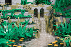 Temple in the Jungles of Celestia (Jonas Wide ('Gideon')) Tags: lego brethrenofthebrickseas jungle ruins waterfall