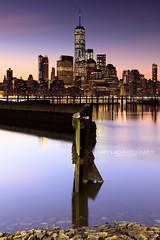 Manhattan skyline at dawn (Cary Liao) Tags: jerseycity newjersey unitedstates us caryliao manhattan ny nyc newyork newyorkcity httpcaryliaocom skyline dawn sunrise longexposure morning