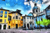 Chiesa Di San Giacomo, Como (Kalev Vask.) Tags: digital kalevvask postprocessed photoshop photomanipulation digiart photoart painterly artistic creative italy como manipulated ownphoto phototopainting buildings architecture
