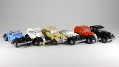 Civilian car collection (Rebla) Tags: civilian car collection lego 1930s fiat simca citroen peugeot french italian