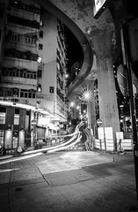 Hill Road Hong Kong (HutchSLR) Tags: hutchslr hongkong canon china chinese cityscape city canon5dmarkiii nightphotography longexposure blackandwhite asia architecture hillroad