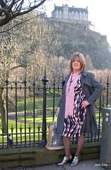Castle Keep (janegeetgirl2) Tags: transvestite crossdresser crossdressing tgirl tv ts edinburgh shopping day out outside public train fashion raincoat dress ankle boots