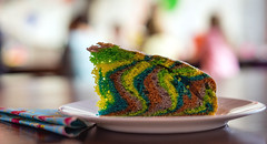 rainbow cake - only for children?! (Danyel B. Photography) Tags: cake birthday rainbow colors bokeh party candy sweet yellow red blue tasty