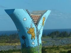 La Réunion graffiti-overpass pylon