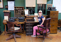 At the railroad office (Lars Plougmann) Tags: typewriter office museum desk hillcity southdakota unitedstates us dscf2925