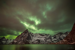 Hamnøy (Mr F1) Tags: norway arctic lofoten islands hamnøy cold jaffa johnfanning cakes auroraborealis northernlights cloud sky nightphotography dark seascape green colour colourful