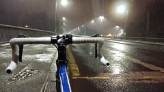 Ibrox, Snow, Night (Nodens_dagon) Tags: bike cycling ibrox glasgow scotland night snow