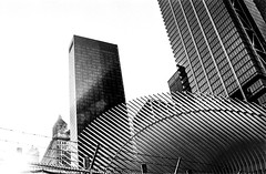 oculus rising (V-A-B) Tags: blackwhite film analog trix400 diafine manhattan newyorkcity worldtradecenter oculus