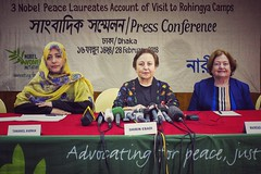 Three female Nobel Peace laureates brief about Rohingya Crisis in Dhaka (auniket prantor) Tags: dhaka bangladesh nobel peace laureates rohingya crisis protest press conference genocide portrait women female myanmar