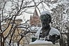 Il cappello bianco di Mazzini - Mazzini's white hat (Jambo Jambo) Tags: giuseppemazzini statua statue neve snow grosseto muramedicee mediceanwalls campanile belltower campanileduomodigrosseto jambojambo maremma maremmatoscana toscana tuscany italia italy nikond5000