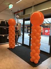 ballonpilaren breed oranje