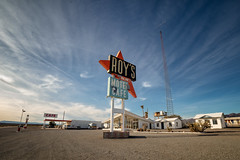 Another Look at Roys (Muzzlehatch) Tags: roys diner route 66 california mojave googie desert signage americana road trip amboy rokinon 14mm f11