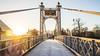 Queen's Park Bridge (Ady Negrean) Tags: chester cheshire uk england dee riverdee river riverside groves winter morning frosty cold january sunrise sunlight sun goldenhour suspension bridge suspensionbridge