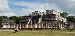 Palace of a hundred columns at Chichen Itza.