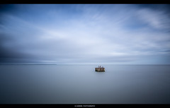 ______[ ]____ (Kevin HARWIN) Tags: sea water seafront wet long exposure canon eos m3 sigma 1020mm lens whitstable kent uk england britain south east wood structure