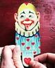 Clowning Around. (luvehorror) Tags: vintagevalentine antiquevalentine vintageclown clowningaround lovethatjoker mechanicalvalentine valentinesday february14th2018 myfunnyvalentine