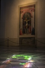 The Holy Trinity, with the Virgin and Saint John and donors (skaradogan) Tags: santa maria novella florence italy firenze catholic church masaccio holy trinity santamarianovella florenceitaly firenzeitalia
