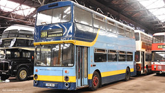 Preserved Flyde Blue Buses XHG 96V 96 (WY Bus Spotter) Tags: preserved flyde blue buses xhg96v 96 west yorkshire bus spotter wybs keighley museum trust kbmt northern counties leyland atlantean