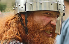 Viking angst (Wilamoyo) Tags: vikingfestival2017 peopleportrait red beard anger agitation helmet iron face historic ancient reenactor man male warrior fighter celt berserker