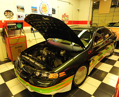 "2000 Pontiac Bonneville ""Salt Flats"" custom racer (D70) Tags: 20431 mph august 16 2001 233 cubic inches 38 liter 600 hp supercharged front wheel drive lowered 4 2000 pontiac bonneville saltflats custom racer nikon d700 20mm f28 ƒ71 200mm 1200 6400 steeplechase phoenix arizona martinautomuseumphoenix usa martin auto museum"