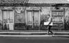 Ordinary Street (Georgie Pauwels) Tags: street streetphotography doors walking moment fujifilm old candid