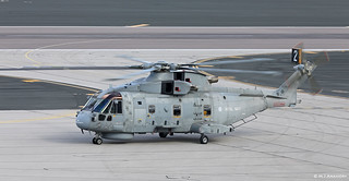 Royal Navy AW101 Merlin HM2 ASW ZH835 from HMS Queen Elizabeth (R08) at RAF Gibraltar