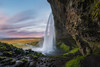 Seljalandsfoss Sunrise (Mike Ver Sprill - Milky Way Mike) Tags: seljalandsfoss sunrise sunset clouds iceland icelandic travel landscape nature flowing water rocky cave lenticular beautiful moss rocks path trail hike outdoors south