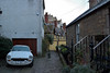 Dean Village (Oliver MK) Tags: deans dean village city edinburgh scotland secluded spot car mg vintage backstreet street cobbled white classic houses british uk nikon d5500 old winding road