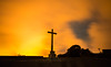 Cross of Fire (free3yourmind) Tags: cross fire clouds cloudy night sky red fog stars lapalma canary islands