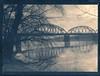 CyanotypeBridge&TreesIbsor9x12net (Fotopokusa) Tags: cyanotype cyjanotyp greenteatoned filmphotography print largeformat 9x12 vintagecamera vintagetechnique alternativeprocess analog analogue bridge